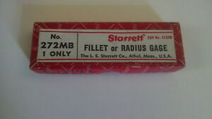 Starrett 272mb Fillet Or Radius Gage In Box Used