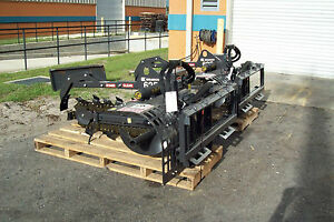 Skid Steer Trencher bradco 625 New dig 36 X 6 two Position Digging free Ship
