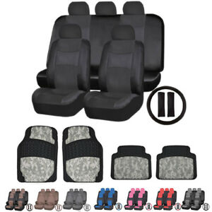 Premium Leather Leatherette Seat Covers Digital Camo Rubber Mats For Toyota