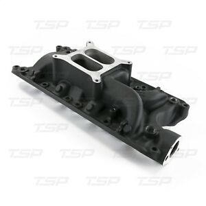 Ford Sb Carburated Black Aluminum Dual Plane Intake Manifold 260 289 302 5 0