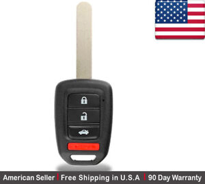 1x New Replacement Keyless Entry Key Fob For Honda Civic Crv Accord Mlbhlik6 1t