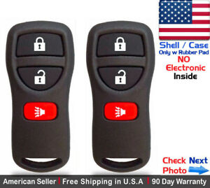 2x New Replacement Keyless Entry Remote Key Fob Case Shell For Nissan Kbrastu15