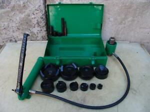 Greenlee 7310 Hydraulic Knockout Punch And Die Set 1 2 To 4 5 21 3