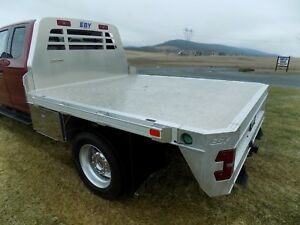 New Eby Aluminum Flatbed Chassis Truck 8 X9 With Gooseneck And Bumper Hitches
