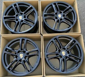 19 Porsche Panamera Gloss Black Wheels Rims Oem Factory Staggered 4s Turbo 19