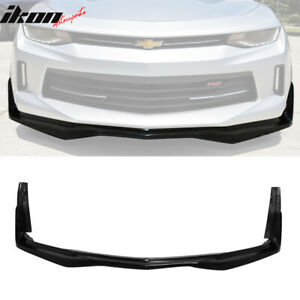 Fits 16 18 Chevy Camaro V6 Ikon Stingray Stage 3 Style Front Bumper Lip Pu