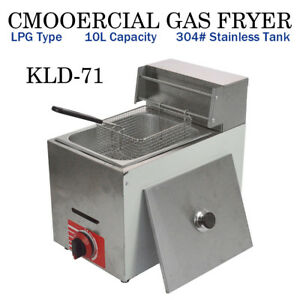 Hq Commercial Countertop Gas Fryer 1 Basket Gf 71 Propane lpg W Metal Tube