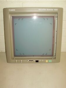 Canon Microfilm Scanner 400 Control Panel Screen With Masking Kit