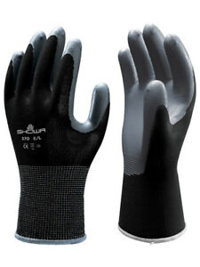 Showa Atlas Fit 370 Black Nitrile Gardening Work Gloves s m l xl xxl