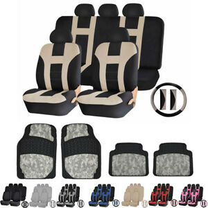 Premium Polyester Car Truck Seat Covers Digital Camo Rubber Mats For Toyota