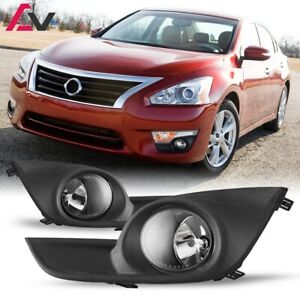 For Nissan Altima 13 15 Clear Lens Pair Oe Fog Light Lamp wiring switch Kit Dot