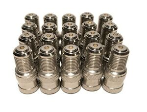 Pack Of 20 Double Seal Inflate Through Type Valve Caps For Trucks Rv And Semi s