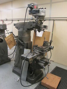 Bridgeport 32 table 5 quill 1hp 460v 3ph Milling Machine W 4 riser Mitutoyo Dro