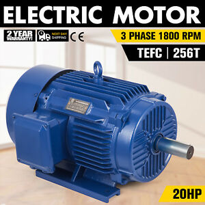 20 Hp Electric Motor 3 Phase 1800rpm Tefc F Insulation Heavy duty 256t Frame