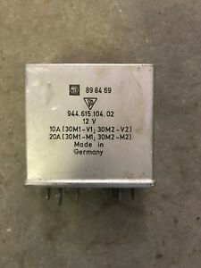 Porsche 944 And 968 Dual Cooling Fan Relay