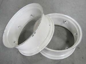 2 New Wheel Rims 12x28 6 loop Fit Ford Tractor 3300 3310 3400 3500 3600