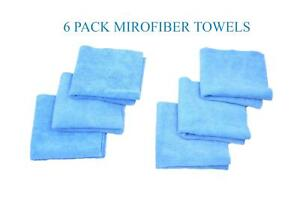 6 Pack Microfiber Cleaning Cloth No Scratch Rag Car Polishing Detailing Towel
