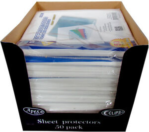 Heavy Duty Sheet Protectors 50 Count Case Of 48