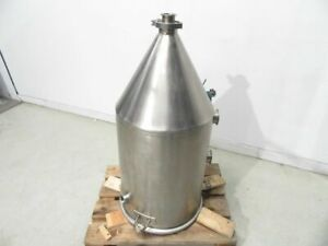100l Stainless Steel Tank Hopper Single Wall Multiple Tri clamp used Tested