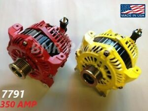 350 Amp 7791pc Alternator Ford Lincoln New High Output Performance Powder Coated
