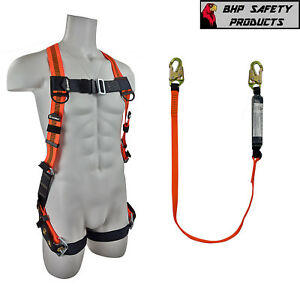 Fall Protection Harness lanyard Combo Construction treework Fs99185 e fs88560 e