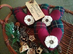Three Handcrafted Valentine Heart Bowl Filler S Tuck S
