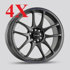 Drag Wheels Dr 31 16x7 4x100 4x114 Charcoal Gray Rims For Nissan Sentra Cube Fit