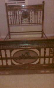 Antique 19th Century French Brass Bed Full Size Rare