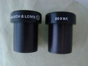 Pair B l Bausch Lomb 20x W f Eyepieces Stereo Microscope