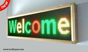 Led Sign Wifi Programmable Scrolling Message Sign 22 X 53 Tri Color