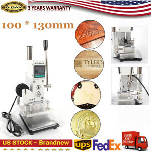 10 13cm Gold Stamping Machine Mechanical Hot Foil Leather Bronzing Embossing Hot
