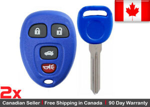 2x Blue Replacement Keyless Entry Remote Control Key Fob For Chevy Buick Pontiac