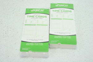 Upunch Time Clock Bundle With 100 Cards 2 Ribbons 2 Time Cards Racks 6 Keys