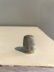 Antique Simons Brothers Sbc Nickel Siver Thimble