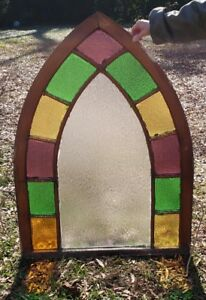 32 44 Lancet Stained Glass 1800 S Wood Window Valentine S Day Gift Idea