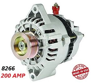200 Amp 8266 Alternator Ford Mustang V6 01 04 High Output Performance Hd New