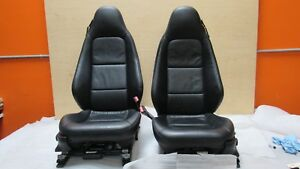 1998 2002 Bmw Z3 Convertible Front Pair Seats Black Leather 64k Miles Oem 7680