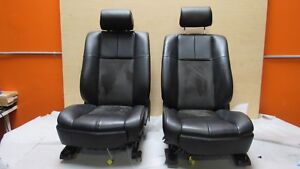 2005 2009 Cadillac Sts V Front Leather Alcantara Seats Pair Oem A7682