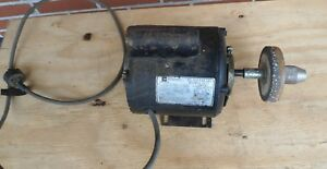 Vintage Emerson Electric 1 2 Hp Motor 1725 Rpm Belted Fan Blower Duty