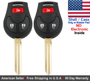 2x New Replacement Keyless Remote Key Fob Case For Nissan Infiniti Shell