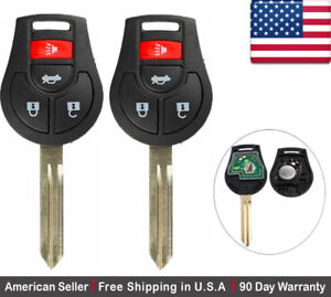 2x New Replacement Keyless Entry Remote Control Key Fob For Nissan Infiniti