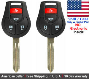 2x New Replacement Keyless Entry Remote Key Fob Ase For Nissan Infiniti Shell