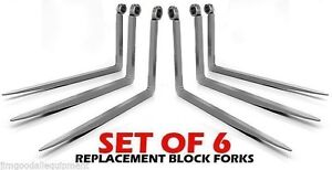 Jcb 2 Shaft 2x1 5x48 Set Of 6 Telehandler Replacement Block Forks tines