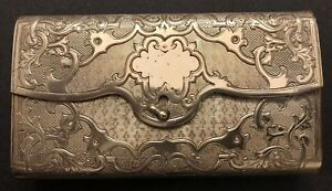 Antique 1869 Imperial Russian 84 Sterling Silver Cigar Case