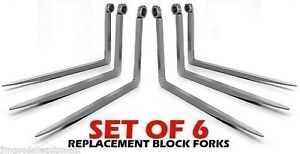 Jcb 506b 508b 2x2x48 Set Of 6 Telehandler Replacement Block Forks tines