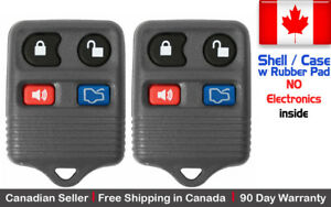 2x New Replacement Keyless Remote Key Fob For Ford Lincoln Mercury Shell Case