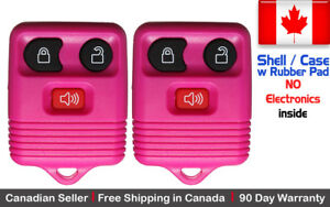 2x New Replacement Keyless Entry Remote Control Key Fob For Ford Shell Case Only