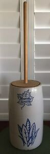 2 Gallon Western Stoneware Butter Churn Rare Markings Stamp Crock Nice