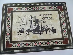 Vintage Mosaic Inlay Jewelry Box Mother Of Pearl Like Aleppo Citadel Lg Detail