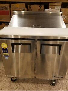 Everest Epbnsr2 36 Standard Top Sandwich Prep Table Pre owned